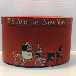 Vintage Hat Box / Dobbs - Fifth Avenue